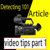 Metal detecting video tips part 1